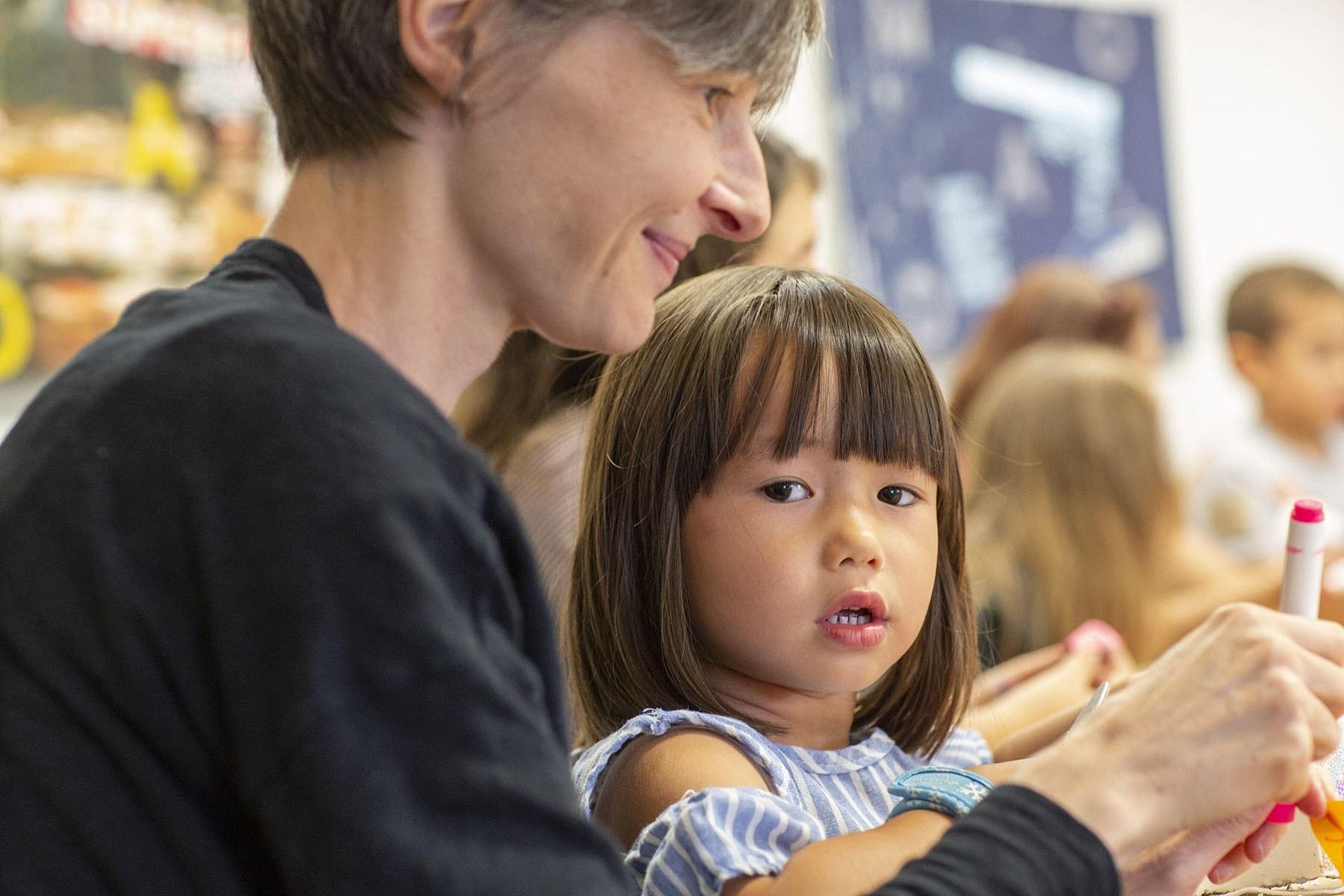 Luna and Nadja at Family Program